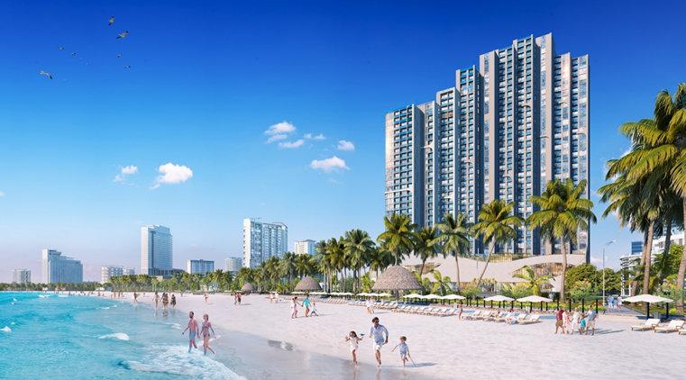 Scenia Bay với kiến trúc Domino chồng xếp giúp tối đa hóa view biển cho tất cả căn hộ & phòng khách sạn