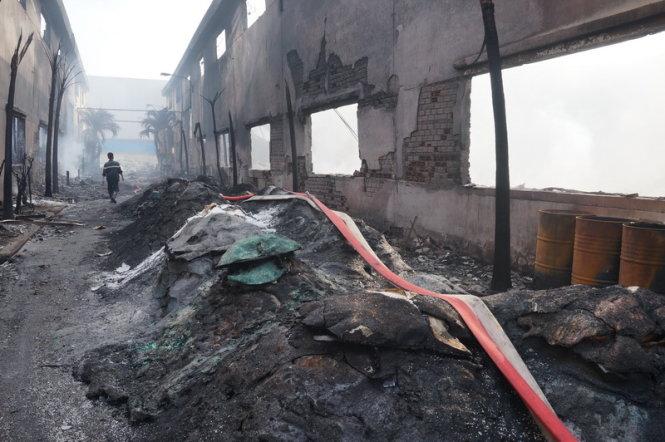 Hiện trường vụ cháy - Ảnh: AN LONG