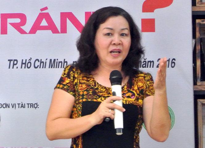 TS Nguyễn Thị Bích Hồng phát biểu tại buổi tọa đàm              - Ảnh Thái Bình