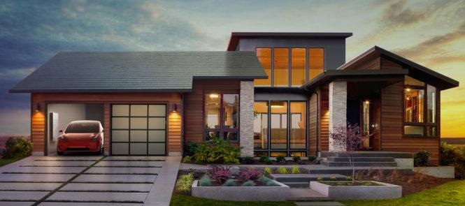 Ngôi nhà mặt trời của Công ty Tesla-Tesla