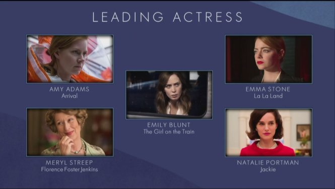 BAFTA - best leading actress