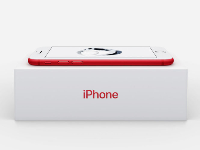 Hộp điện thoại iPhone 7 RED - Ảnh: Wired