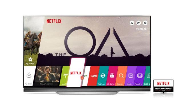 """Năm thứ 3 liên tiếp, TV LG được lựa chọn là """"TV được khuyên dùng bởi Netflix"""", một tiêu chuẩn từ nhà cung cấp dịch vụ phim trực tuyến hàng đầu thế giới - Ảnh: LG"""