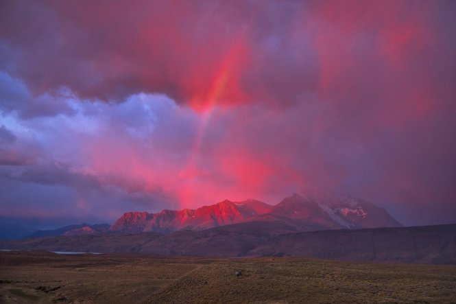 Patagonia sees a lot of dramatic weather over the epic landscape of the Andes, and this early morning rainbow is no exception© Getty Images/AWL Images RM