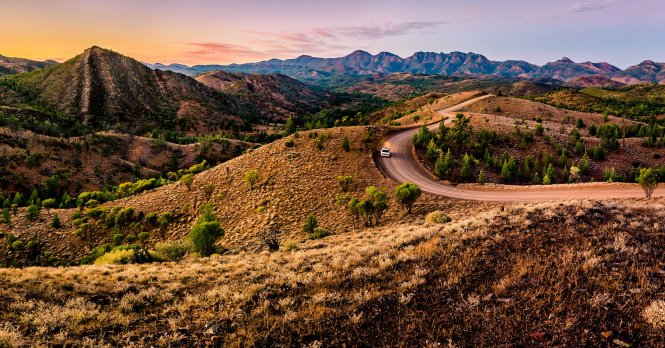 The magestic Bunyeroo Valley in South Australia's Flinders Ranges looks particularly fine under the first morning light © Getty Images