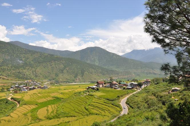 Bình yên Bhutan. -Ảnh: L.N.M.