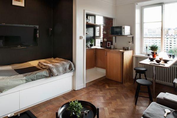 Căn hộ một phòng ngủ - nhỏ mà không chật