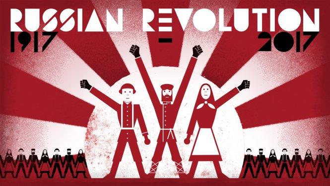 Một apphich chào mừng 100 năm Cách mạng Tháng 10 của BERT Animation.-Ảnh: BERT Animation