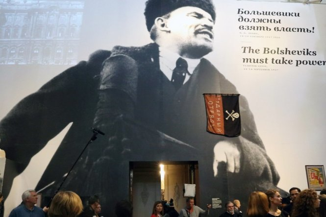 Cách mạng Tháng 10 với lãnh tụ Lenin bước vào năm kỷ niệm thứ 100 trong một thế giới đầy biến động.-Ảnh: rg.ru