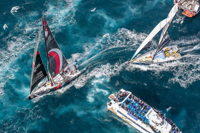 Những pha tăng tốc, ganh đua nhau đầy ấn tượng ở Volvo Ocean Race. -Ảnh: VOLVO OCEAN RACE