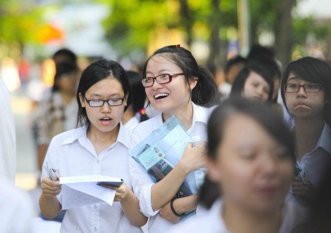 Thí sinh dự kỳ thi THPT quốc gia năm 2016 tại Hà Nội -  Ảnh: Nguyễn Khánh