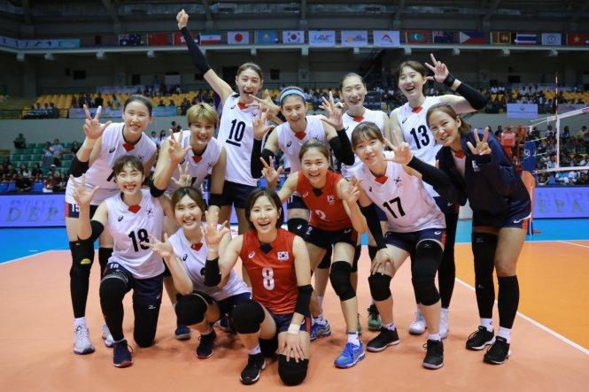 Phụ nữ Hàn Quốc cao lên đáng kể nhờ phổ biến những môn như bóng chuyền. Ảnh: Asian Volleyball