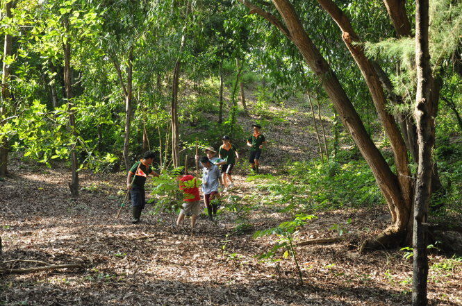 Về với rừng, chơi giữa thiên nhiên sẽ giúp trẻ phát triển cả thể chất lẫn tinh thần. Trong ảnh: một hoạt động của hướng đạo sinh Việt Nam. Ảnh: L.N.M.