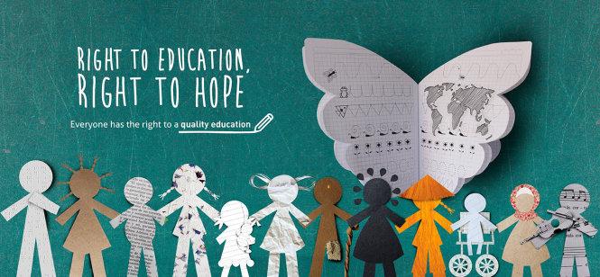Quyền tiếp cận giáo dục tạo ra sự bình đẳng về cơ hội, một quyền con người cơ bản và thiêng liêng. Ảnh: mylatestnews.org