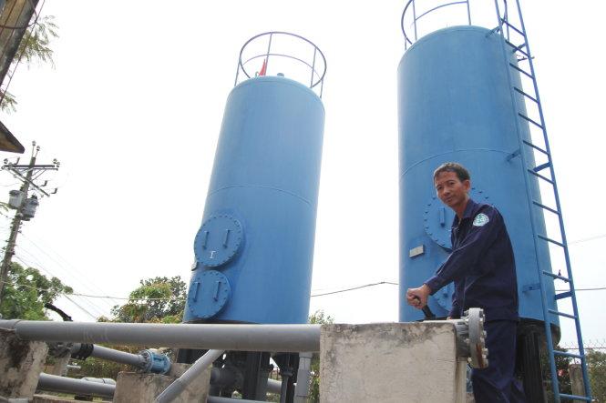 Một trạm cấp nước sạch khai thác từ nước ngầm tại tỉnh Tiền Giang. Ảnh: Mậu Trường