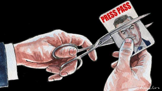 Tấm thẻ báo chí vào Nhà Trắng của Acosta đã gây cả một trường sóng gió. Ảnh: Financial Times