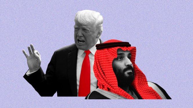 Ông Trump vẫn kiên trì ủng hộ MBS trước sức ép từ nhiều phía. Ảnh: Axios