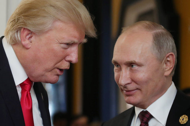 Hai ông Trump (trái) và Putin là những nhà lãnh đạo để lại nhiều dấu ấn nhất trong năm 2018? Ảnh: time.com