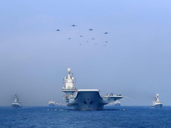 Lực lượng hải quân ngày càng hùng hậu của Trung Quốc gửi đi một tín hiệu rõ ràng.-Ảnh: Business Insider