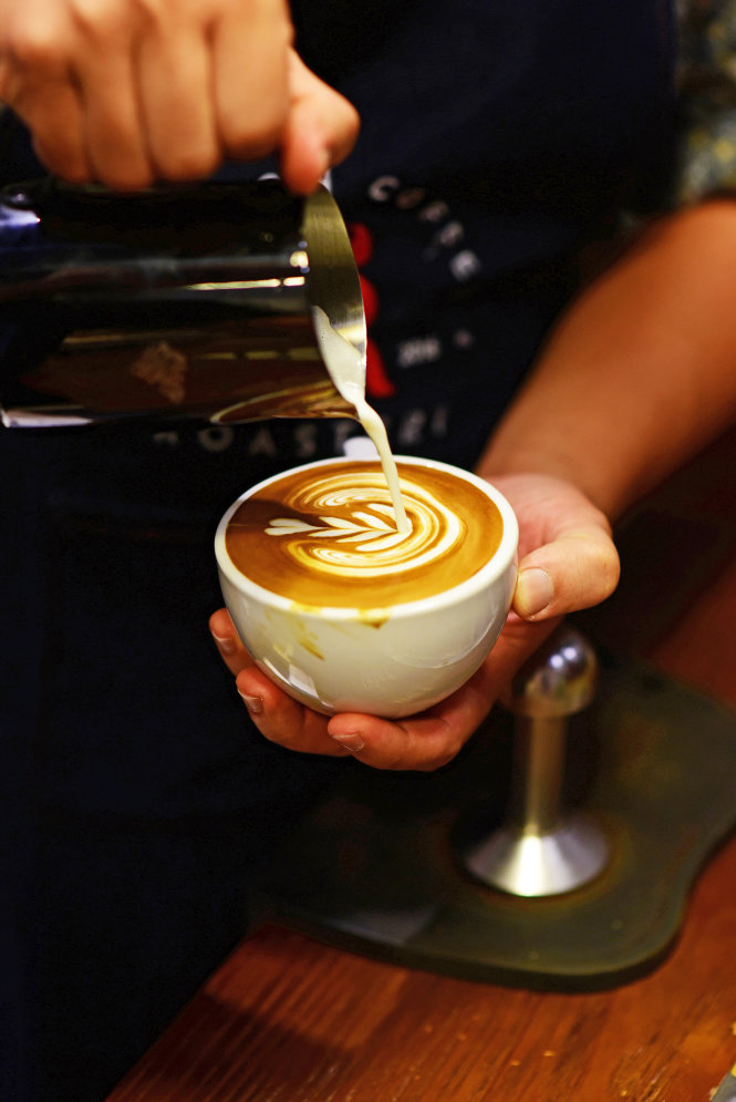 Một ly cà phê chuẩn của ngày nay là phải ngon và đẹp. Ảnh: Quang Định