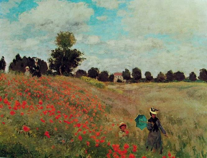 Những đóa hoa Coquelicot trong tranh của danh họa Monet.