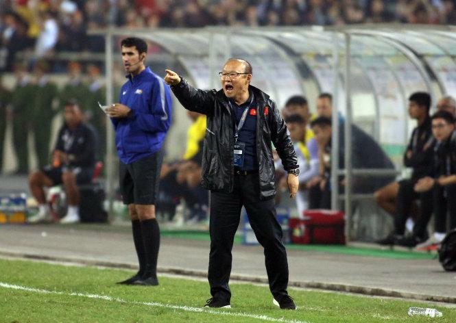 Những chiến thắng ngoạn mục đã trở nên quen thuộc với bóng đá VN dưới thời HLV Park Hang Seo. Ảnh: Nguyên Khôi