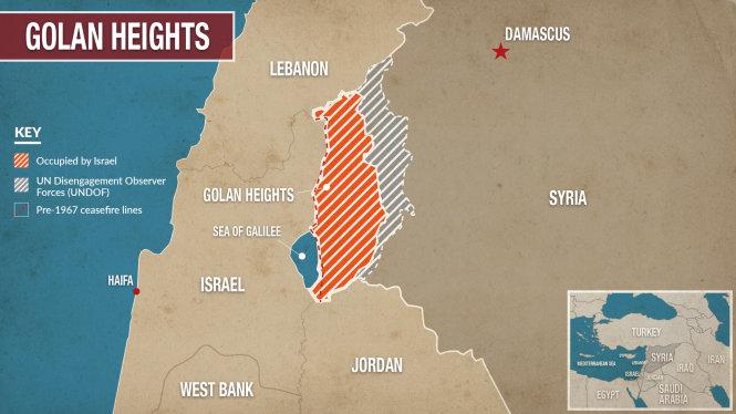 Cao nguyên Golan bị Israel chiếm đóng từ năm 1967. Ảnh: alaraby.co.uk