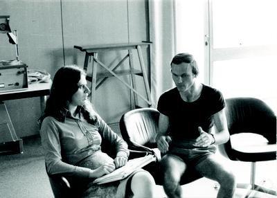 Karen Uhlenbeck và K. Grove năm 1976. Ảnh: opc.mfo.de