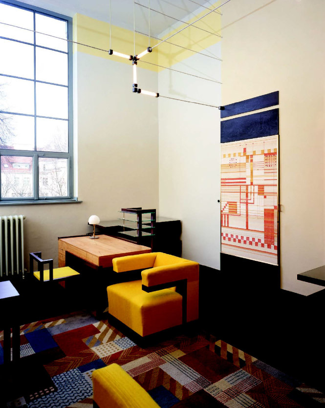 Văn phòng giám đốc (phục dựng) của Gropius ở Đại học Bauhaus Weimar. Ảnh: penccil