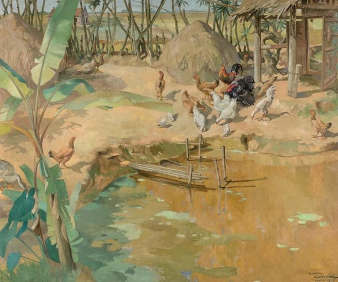 Bức tranh Làng Bắc bộ (Village du Haut Tonkin) của họa sĩ Lương Xuân Nhị