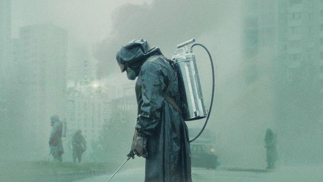 Cảnh trong sêri phim Chernobyl của HBO.