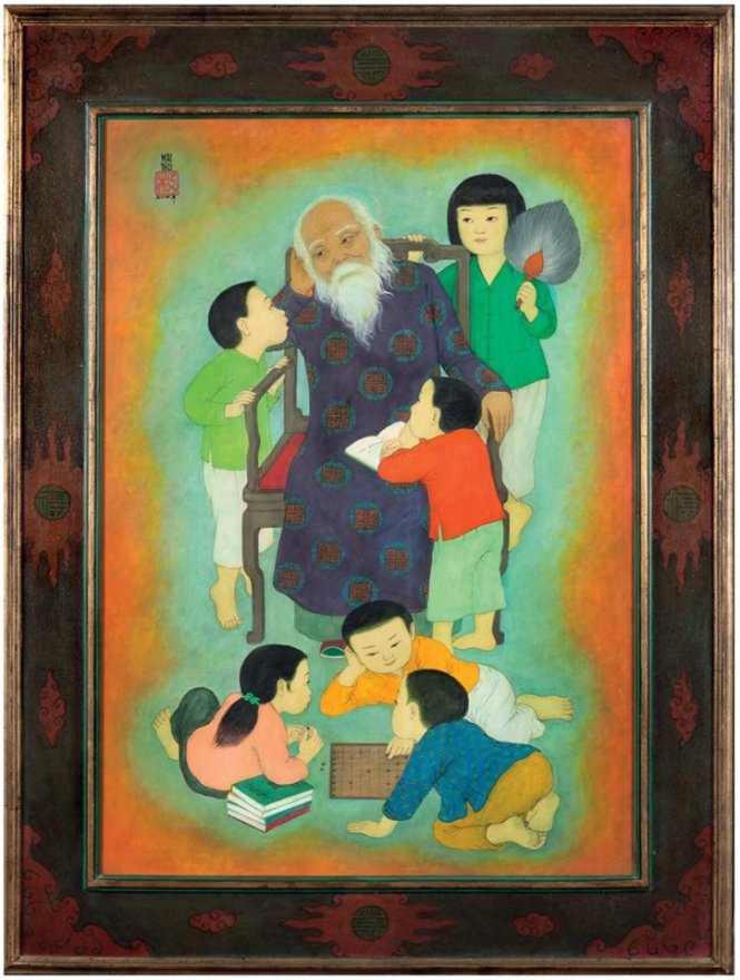 Bức tranh Bên ông của họa sĩ Mai Trung Thứ