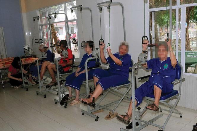 Phòng tập hồi phục chức năng tại Viện dưỡng lão Bình Mỹ. Ảnh: Viện dưỡng lão Bình Mỹ cung cấp