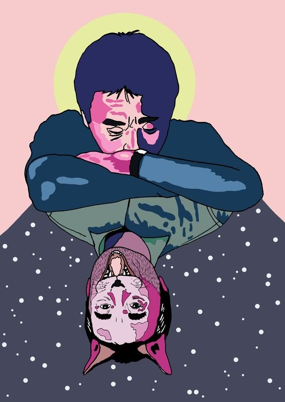 Haruki Murakami. Minh họa của Eili Lepik