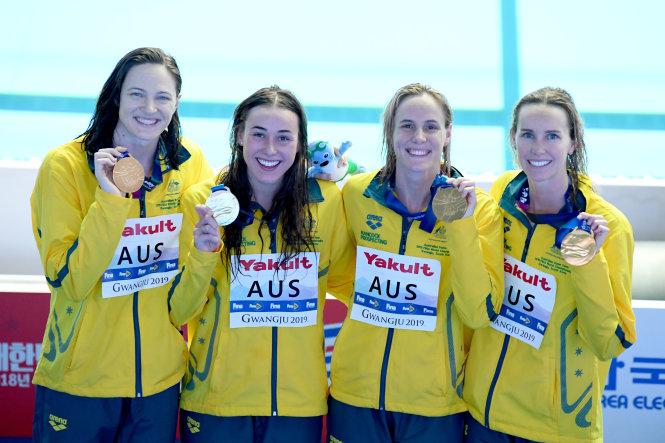 Những cô gái vàng của bơi lội Úc. Ảnh: swimming.org.au