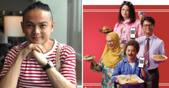 Dennis Chew và những nhân vật quảng cáo gây tranh cãi của anh. Ảnh: mothership.sg
