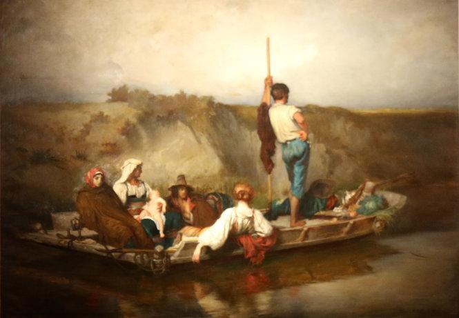 Sốt xuất huyết, tranh của Émile Charles-Bitte. Ảnh: Wikimedia