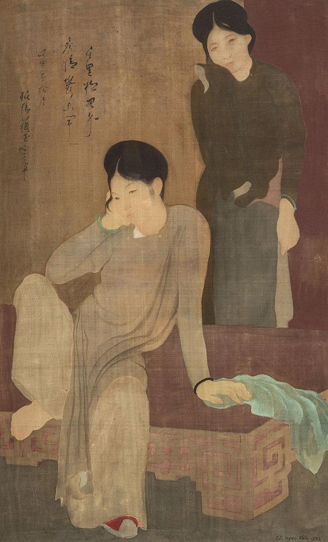 Les Désabuseés (Vỡ mộng) lụa, 92,5cm x 57cm, 1932) của Tô Ngọc Vân đã bán hơn 1,1 triệu USD (hơn 27 tỉ đồng), tăng gần 400% so với mức sàn
