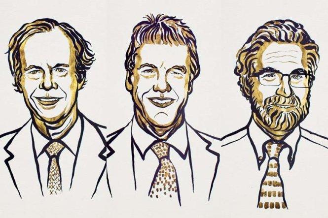 Từ trái qua William G. Kaelin, Peter J. Ratcliffe, và Gregg L. Semenza - Ảnh: nobelprize.org