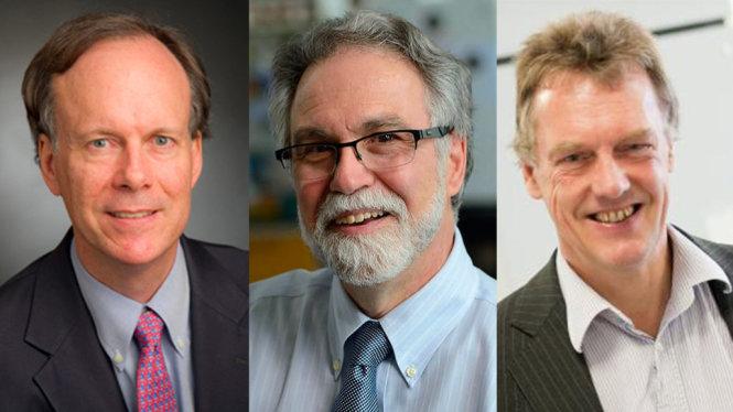 Từ trái qua: William G. Kaelin, Gregg L. Semenza và Peter J. Ratcliffe