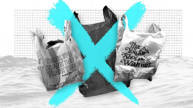 Đánh thuế hay cấm hẳn túi nilông mới là giải pháp hiệu quả? Ảnh: VOX