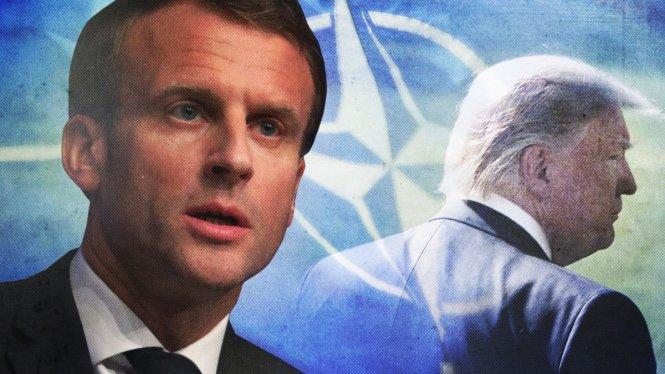 Ông Macron đang có cảm giác bị nước Mỹ quay lưng. Ảnh: CNN