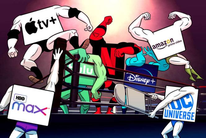 Streaming war là cuộc chiến giữa những người khổng lồ. Ảnh: thrillist.com