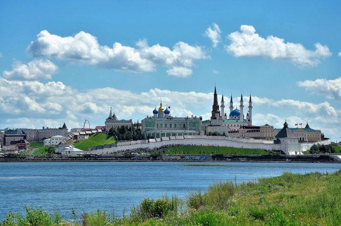 Di sản văn hóa thế giới Kremlin Kazan và quần thể công trình kiến trúc bên bờ sông Kazanka.