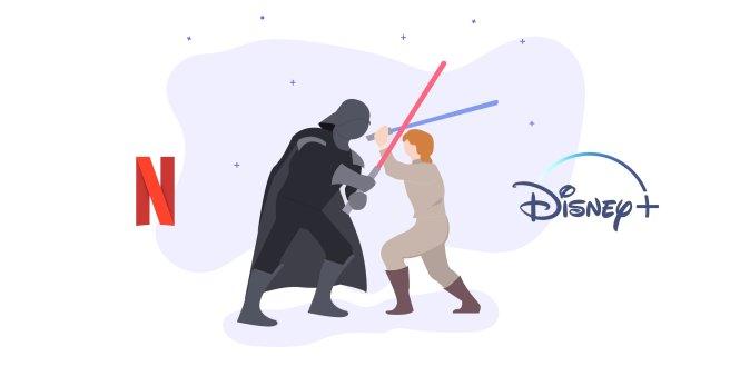 """Disney đã nhảy vào lĩnh vực streaming để """"tuyên chiến"""" với Netflix. Ảnh: medium.com"""