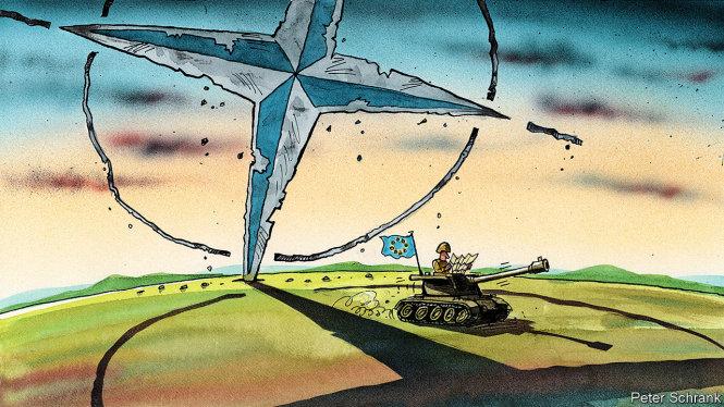 NATO đang đứng trước nguy cơ chia rẽ và đổ vỡ hơn nữa. Ảnh: The Economist