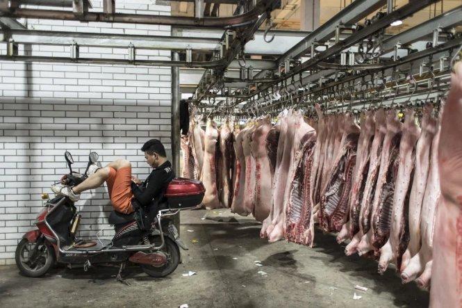 Thịt heo là yếu tố chính khiến chỉ số giá tiêu dùng của Trung Quốc tăng kỷ lục trong tháng 11-2019. Ảnh: Bloomberg