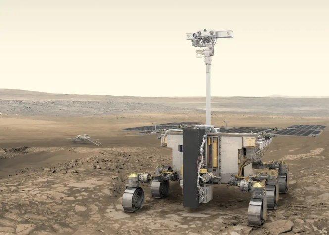 Phác thảo tàu thăm dò ExoMars Rover.-Ảnh: ESA