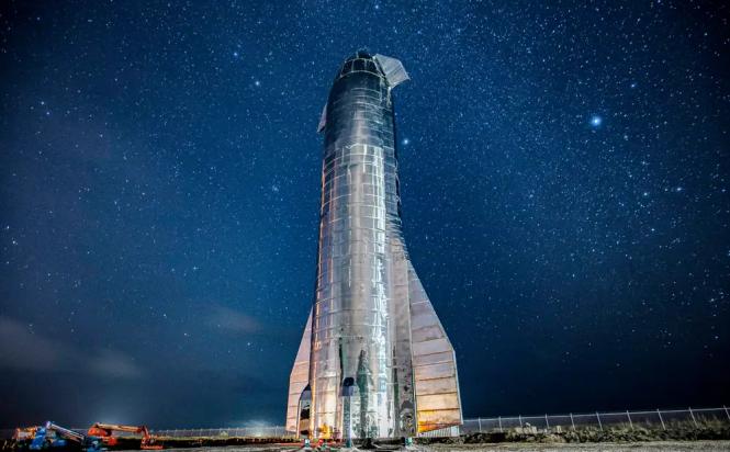 Phiên bản mẫu tên lửa Starship Mark 1 để phóng tàu vũ trụ Starship của SpaceX. Ảnh: SpaceX