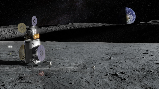 Phác thảo tàu thăm dò Artemis của NASA. Ảnh: NASA